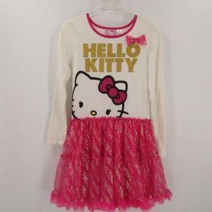 Hello Kitty Costume Crew Neck Dress w/Lining / Girl's XL 14-16 / Adult S-M
